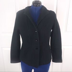 Coldwater Creek 14 black quilted jacket